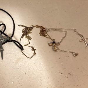 Bundle of Cross Necklaces